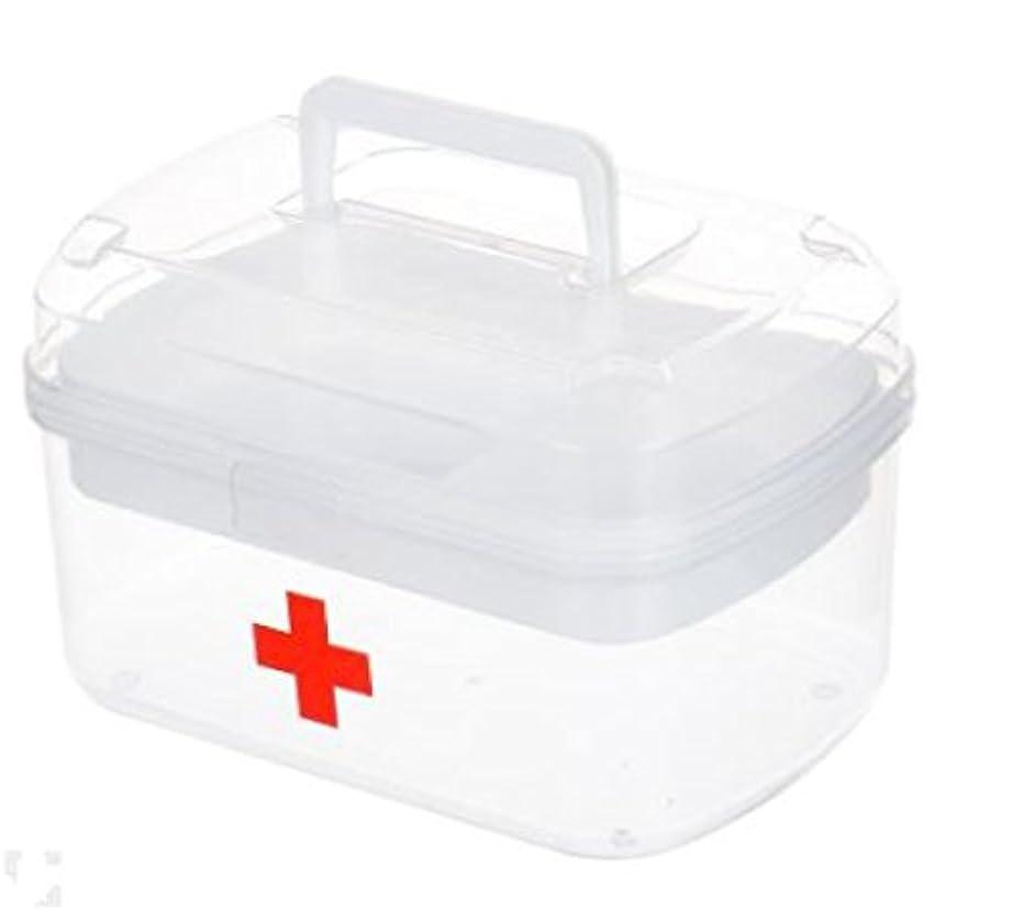 コア本部魅力持ち運び 救急箱 応急処置 収納ケース 大容量 薬箱 櫻文庫