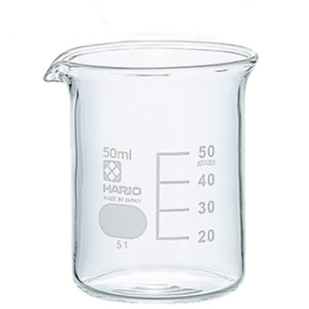 禁じるエゴマニアオークションガラスビーカー 50ml 【手作り石鹸/手作りコスメ/手作り化粧品】