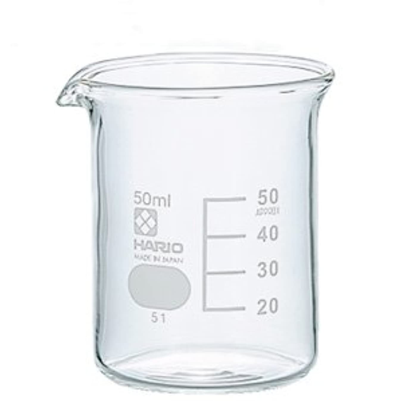スナッチ地域の電化するガラスビーカー 50ml 【手作り石鹸/手作りコスメ/手作り化粧品】