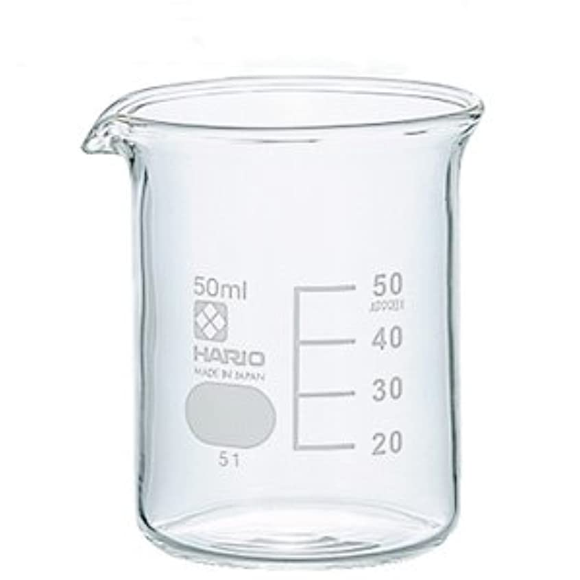 ガラスビーカー 50ml 【手作り石鹸/手作りコスメ/手作り化粧品】