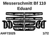 エアワンホビー 1/72 メッサーシュミットBf110 コントロールサーフェイス 塗装マスクシール (エデュアルド用) プラモデル用マスキングシール AOHF72025