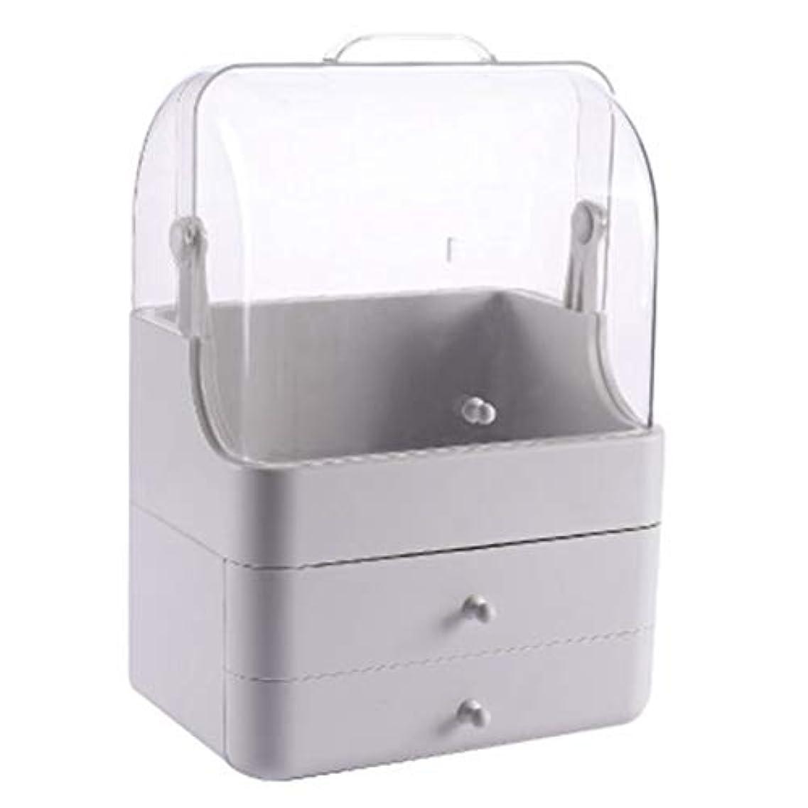 化粧品収納ボックス メイクボック コスメ収納 3段式 アクセサリボックス 多容量 引き出し式 整理簡単 持ち運び 蓋付き 防塵防水 透明 機能性 スキンケア用品 小物入れ 卓上収納 軽量
