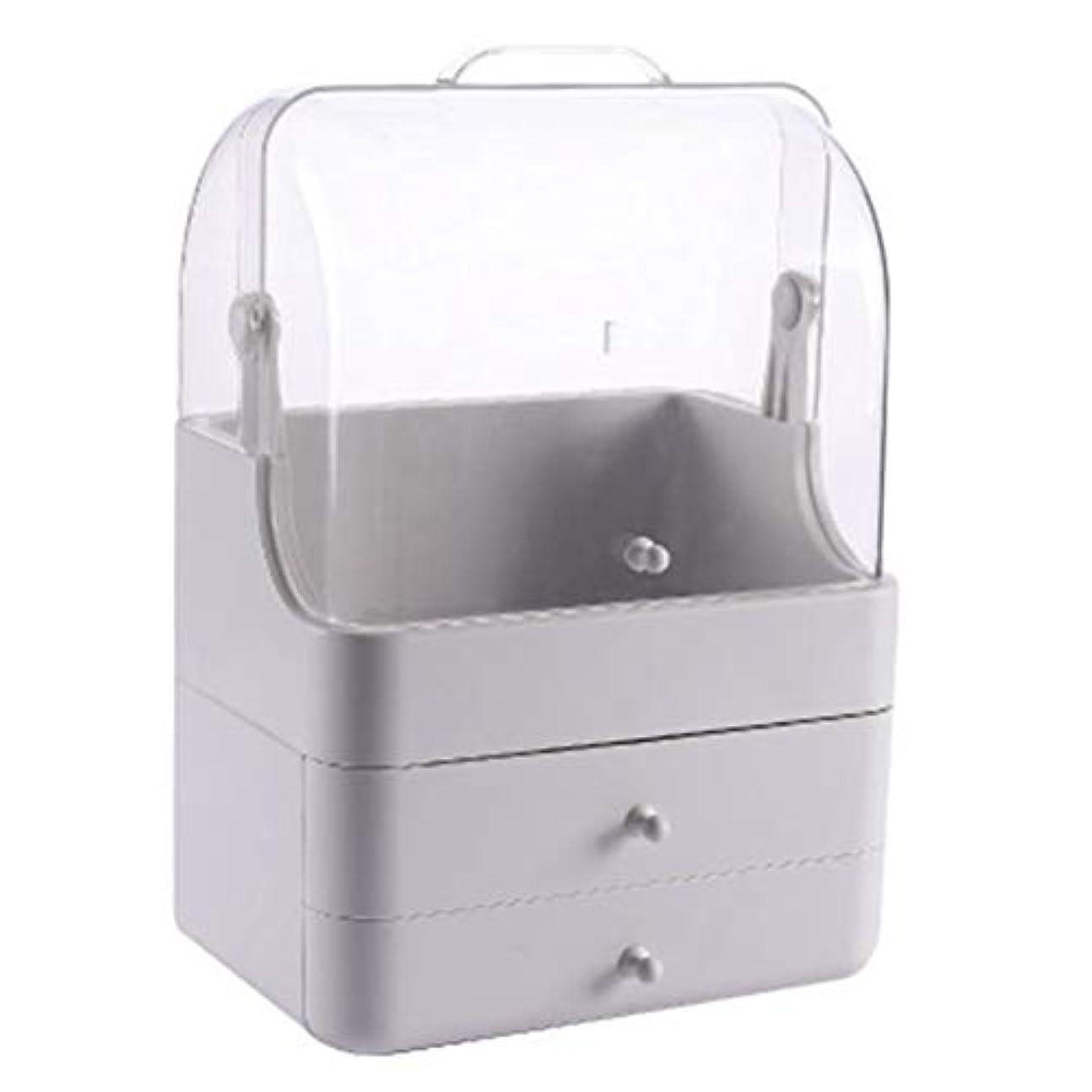 ミル摩擦忘れられない化粧品収納ボックス メイクボック コスメ収納 3段式 アクセサリボックス 多容量 引き出し式 整理簡単 持ち運び 蓋付き 防塵防水 透明 機能性 スキンケア用品 小物入れ 卓上収納 軽量