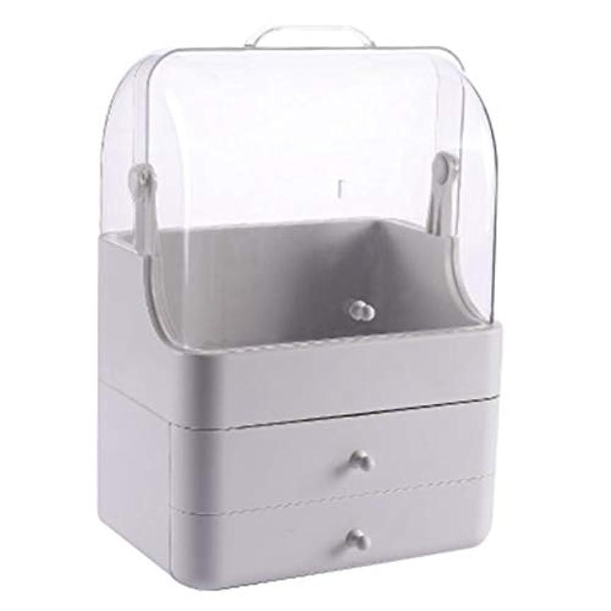 後方うなるに向かって化粧品収納ボックス メイクボック コスメ収納 3段式 アクセサリボックス 多容量 引き出し式 整理簡単 持ち運び 蓋付き 防塵防水 透明 機能性 スキンケア用品 小物入れ 卓上収納 軽量