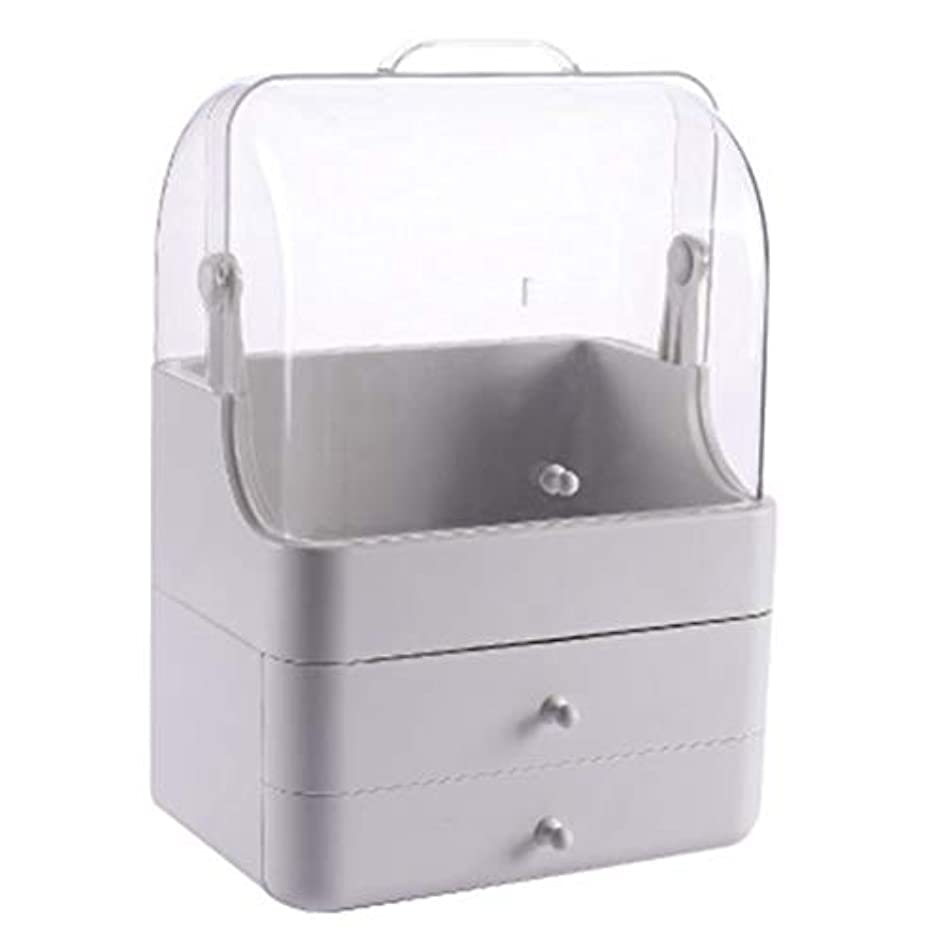 学校困った食堂化粧品収納ボックス メイクボック コスメ収納 3段式 アクセサリボックス 多容量 引き出し式 整理簡単 持ち運び 蓋付き 防塵防水 透明 機能性 スキンケア用品 小物入れ 卓上収納 軽量