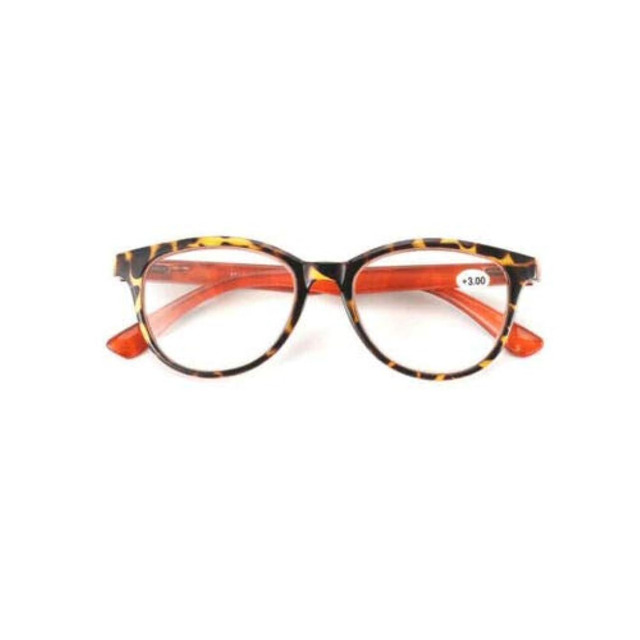 対称バイナリ対人FidgetGear ラウンド老眼鏡女性男性眼鏡プラスチックフレームアイリーダー+ 1.0?+ 3.5 ヒョウ