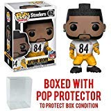 Pop! NFL: Pittsburgh Steelers Antonio Brown Color Rush #62 Vinyl Figure (Bundled with Pop Protector)