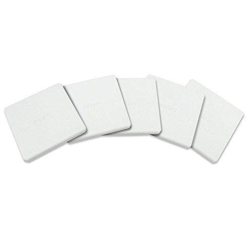 【珪藻土 コースター 5枚組 カラリ スクエア】Karari 珪藻土コースター・スクエア 5枚セット ホワイト(B870-5-S1)