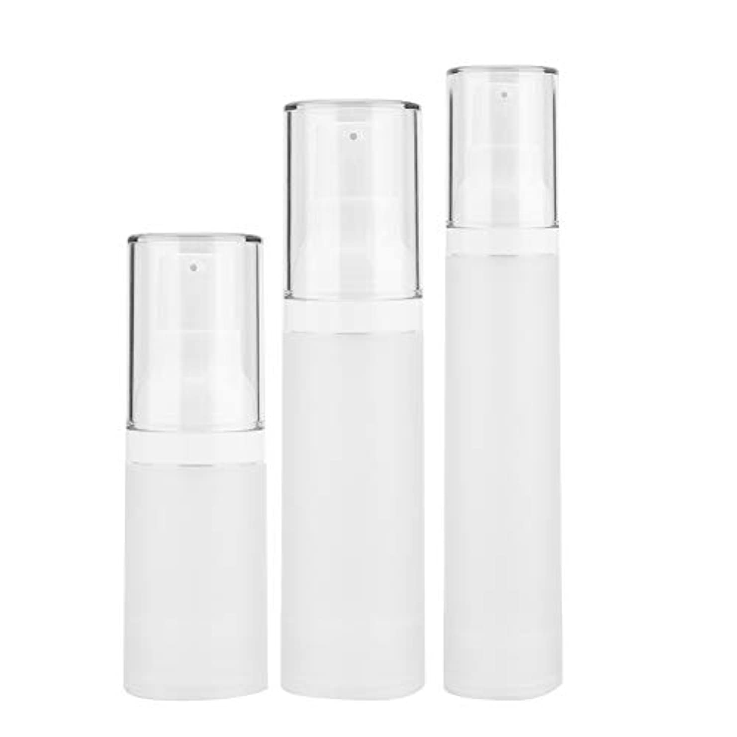 美容師模倣廊下3本入りトラベルボトルセット - 化粧品旅行用容器、化粧品容器が空の化粧品容器付きペットボトル - シャンプーとスプレー用(3 pcs)