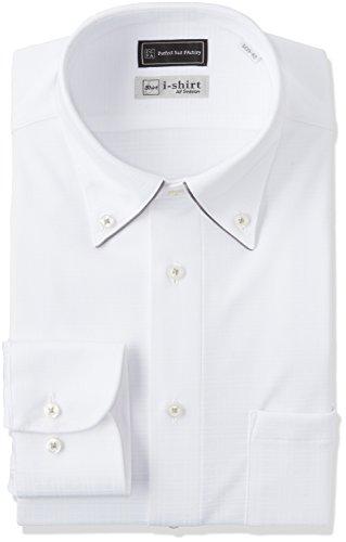 (ピーエスエフエー) P.S.FA(ピーエスエフエー) i-shirt 完全ノーアイロン スリムモデル 長袖 ボタンダウンアイシャツ M151180029-30 01 ホワイト L(首回り41cm×84cm)