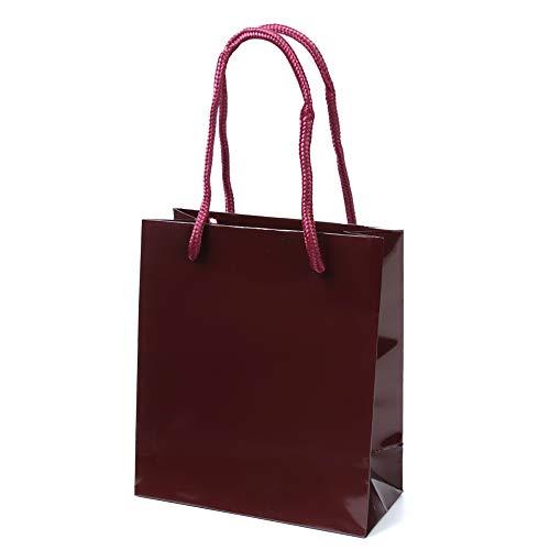 井上紙業 高級 手提げ紙袋 グロスマロン(表面PP加工) [10枚] 150x70x170 S-15