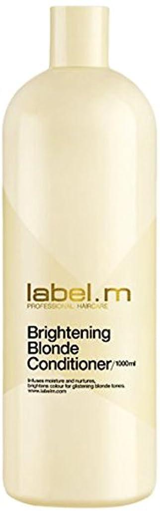 折る硬さ仕様レーベルエム ブライトニングブロンド コンディショナー (髪に潤いと栄養を与えて明るく輝くブロンドヘアに) 1000ml/33.8oz