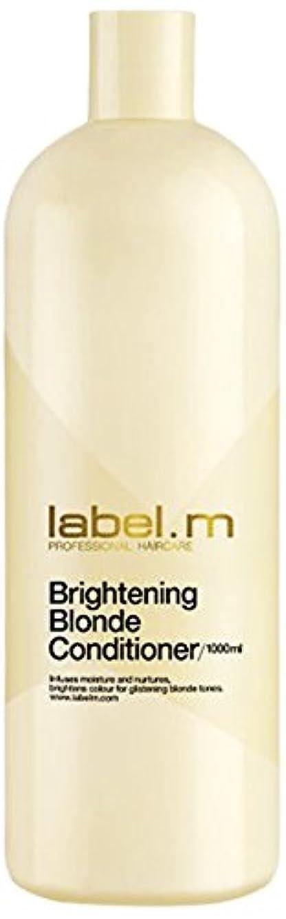 遅い再撮りエンジニアレーベルエム ブライトニングブロンド コンディショナー (髪に潤いと栄養を与えて明るく輝くブロンドヘアに) 1000ml/33.8oz
