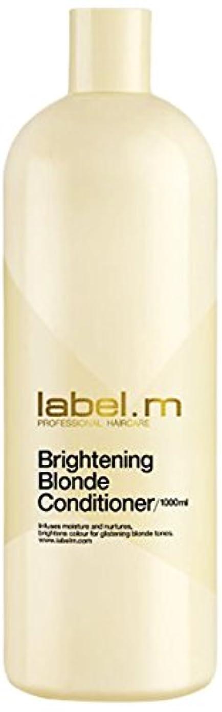 説得力のあるどう?見通しレーベルエム ブライトニングブロンド コンディショナー (髪に潤いと栄養を与えて明るく輝くブロンドヘアに) 1000ml/33.8oz