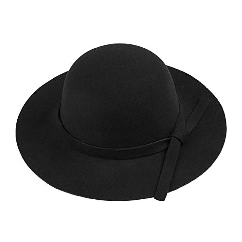 マトリックス予測するピーブDeeploveUU 一流イングランドスタイル女性ビッグワイドつばフェルト帽子ヴィンテージ無地レディース帽子フロッピークローシュキャップ帽子用女性