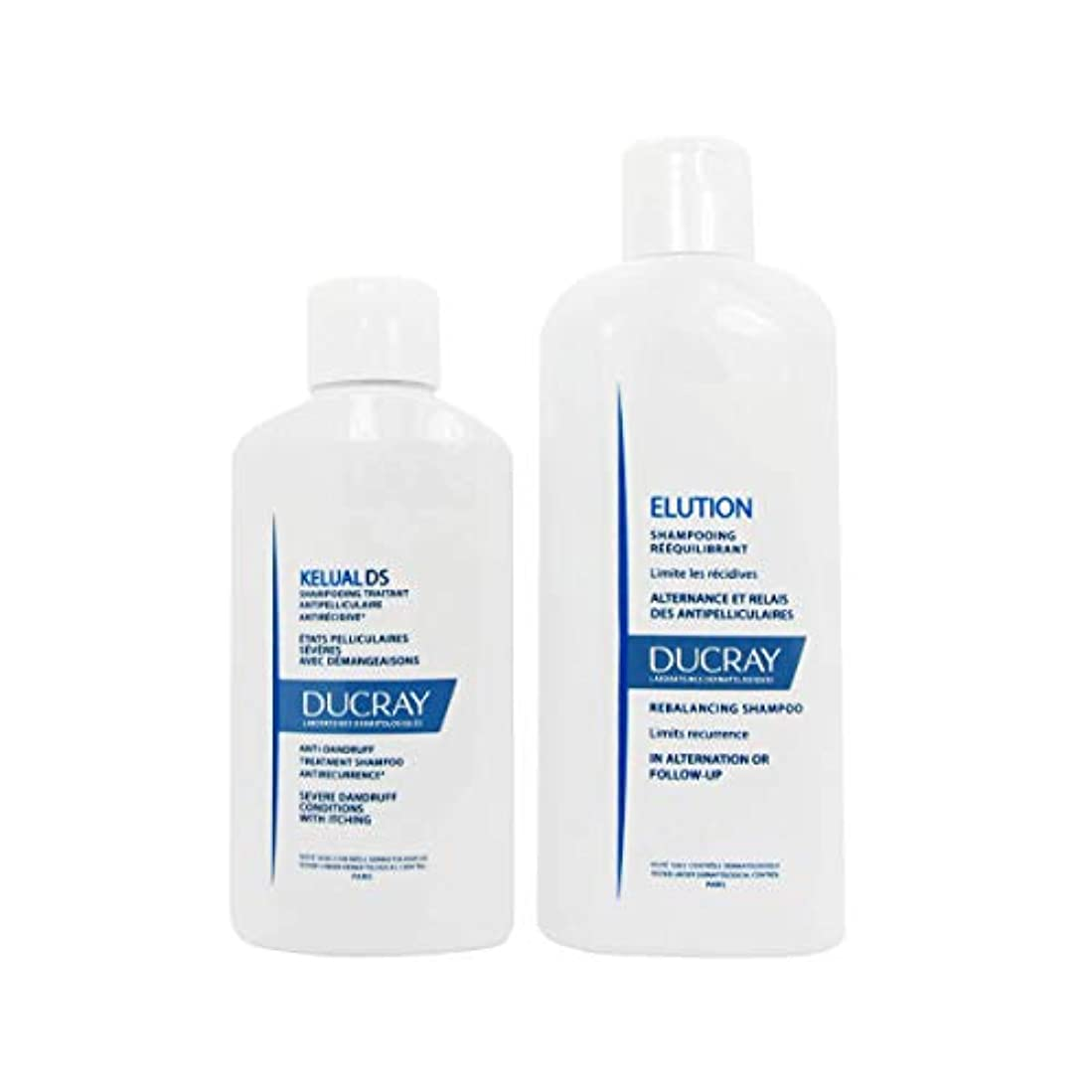 洗剤過度の高速道路Ducray Pack Kelual DS鎮静シャンプー100ml +溶出シャンプー200ml