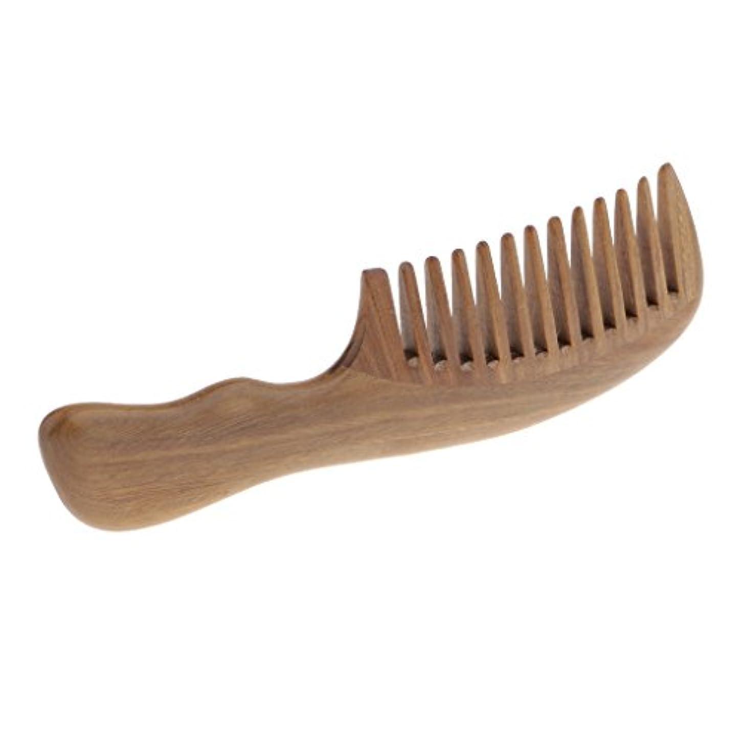 以前は限定以下天然サンダルウッド 櫛手作り 広い歯 髪の櫛のひげのグルー ミングブラシ