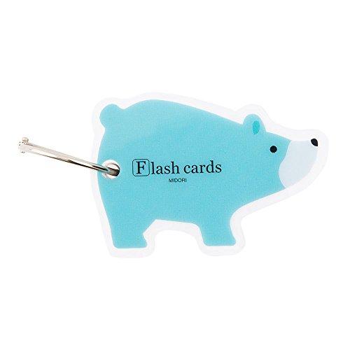 ミドリ 単語カード クマ柄34196006