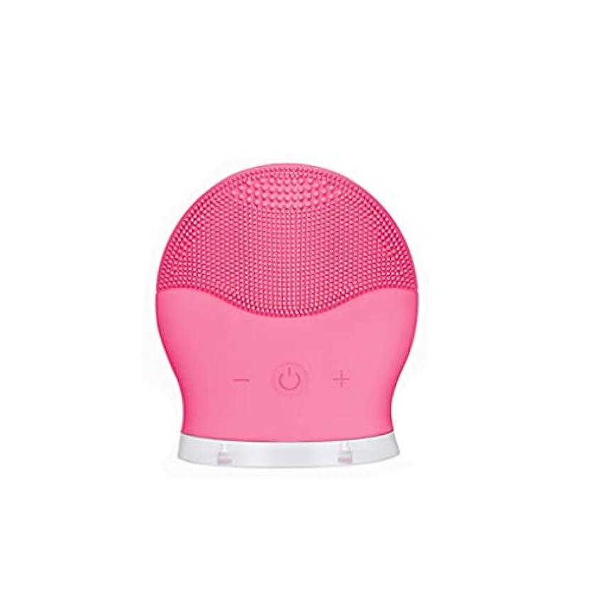 気づくうぬぼれたジョグポータブル超音波振動シリコーンクレンジング機器、アンチエイジング顔マッサージ、毛穴を減らすために、皮膚を改善する剥離,Rosered
