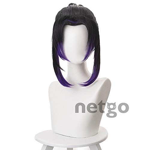 Netgo 鬼滅の刃 胡蝶しのぶ コスプレウィッグ 耐熱 ウィッグ かつら wig ネット付き