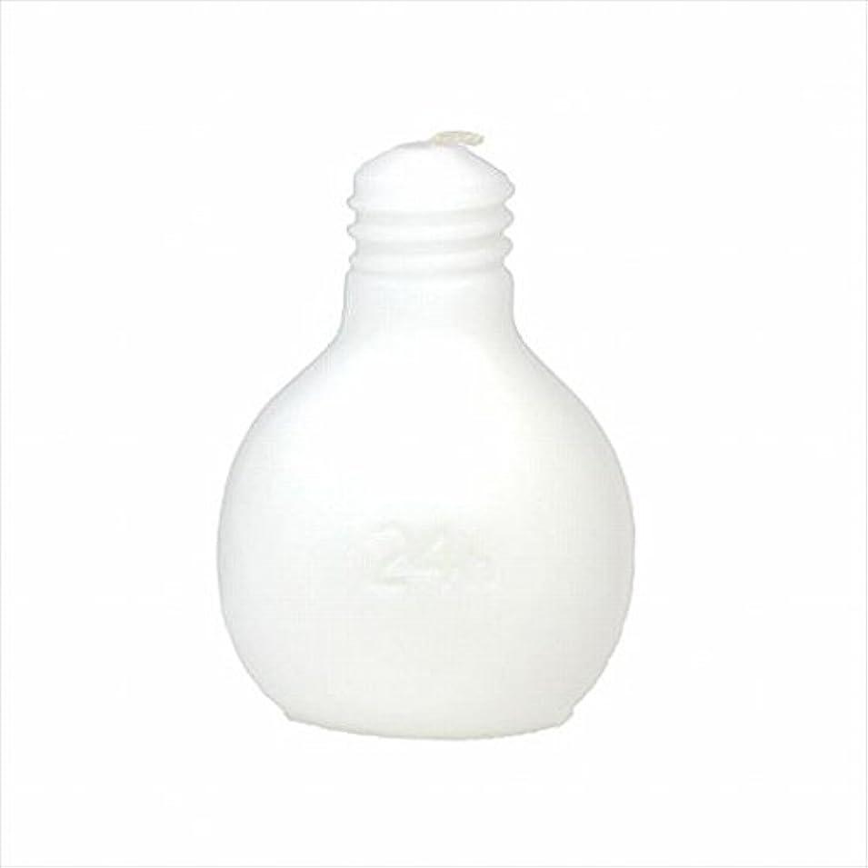 球体光沢のある表向きカメヤマキャンドル(kameyama candle) 節電球キャンドル 「 ホワイト 」