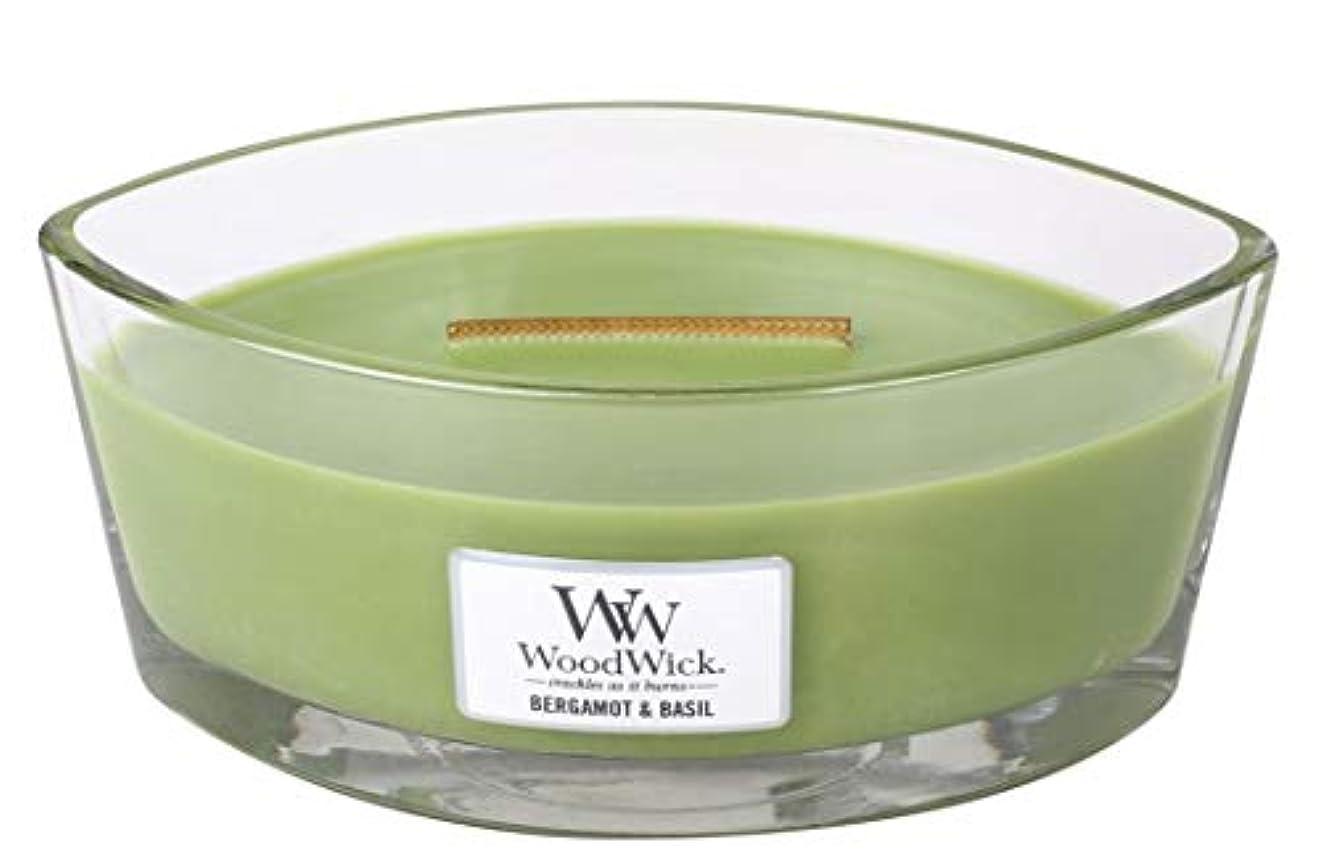 シャツ裁量百科事典WoodWick ベルガモット/バジルキャンドル Ellipse 76058
