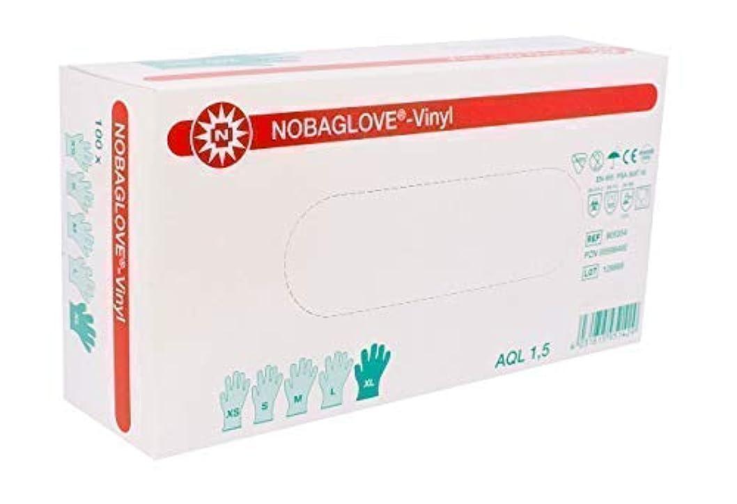 伝える低い微生物100個Nobagloveディスポーザブルグローブビニールパウダーフリー - Xラージ、存在しません