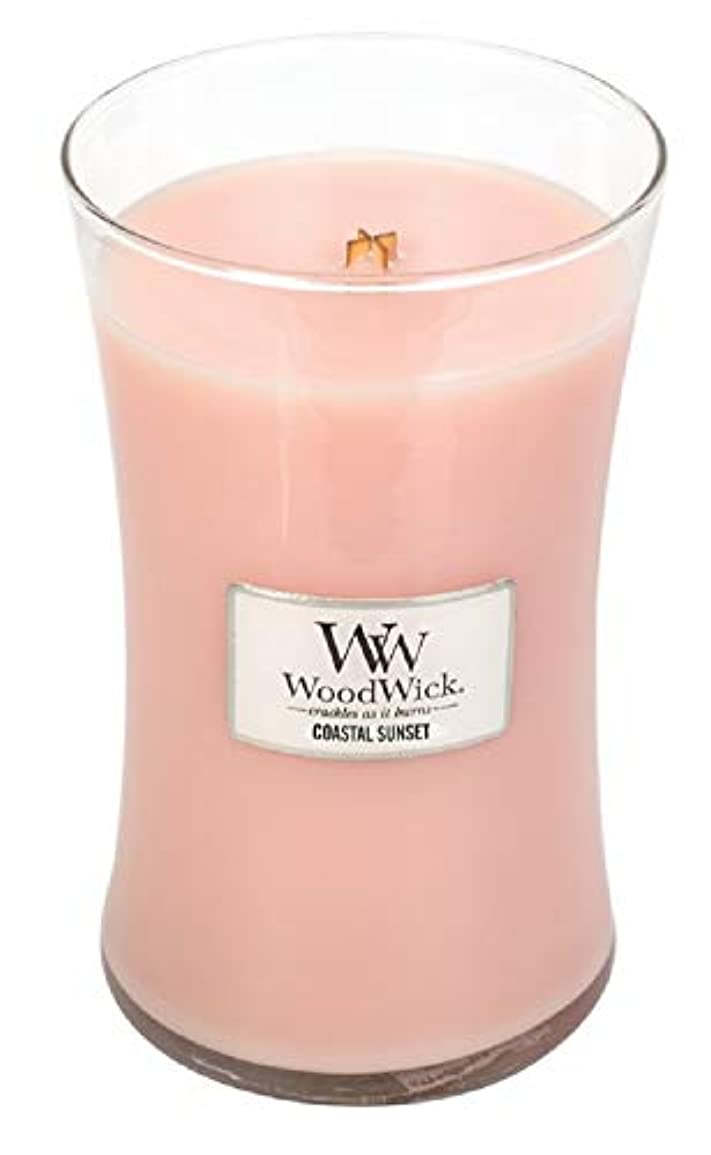 砲撃晩ごはん秘密のCOASTAL SUNSET WoodWick 650ml Scented Jar Candle