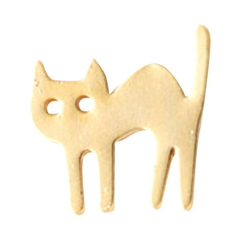 あいにく幸運な戦争リトルプリティー ネイルアートパーツ 猫 ゴールド 10個