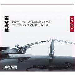 ラウテンバッハー独奏 バッハ:無伴奏ヴァイオリンのためのソナタとパルティータの商品写真