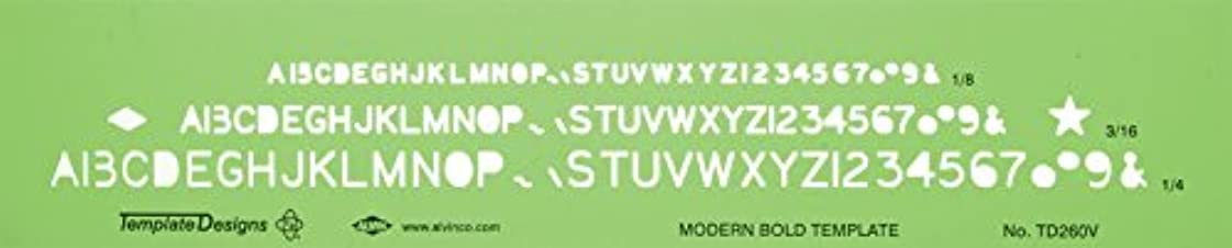 輝くポテト請負業者Alvin TD260V Modern Bold Lettering Template