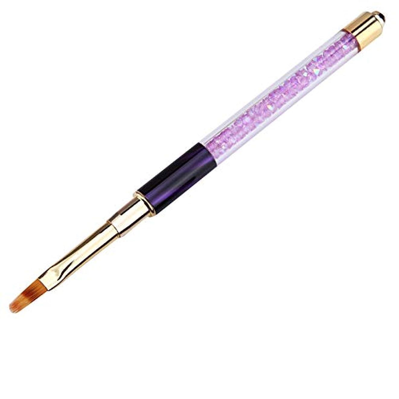 カフェテリアニックネーム騒々しいACAMPTAR ネイルアートブラシのペン、ラインストーン、キャット?アイ、アクリルのハンドル、彫刻と絵画用、ジェル、ネイルの延長、マニキュア、ライナーのペン、02