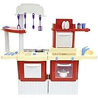 Polesie 42316 キッチン インフィニティ 電子レンジ付き (ボックス) – クック&プレイ おもちゃ マルチカラー