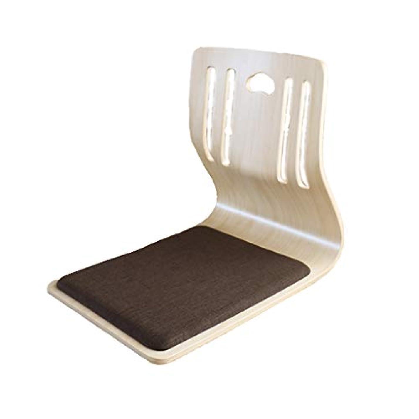 人間肯定的崩壊ソリッドウッド製スツール背もたれローテーブルと椅子日本の足のない椅子床の椅子足のない椅子出窓窓口の寮の部屋学生用椅子快適 (サイズ さいず : C)