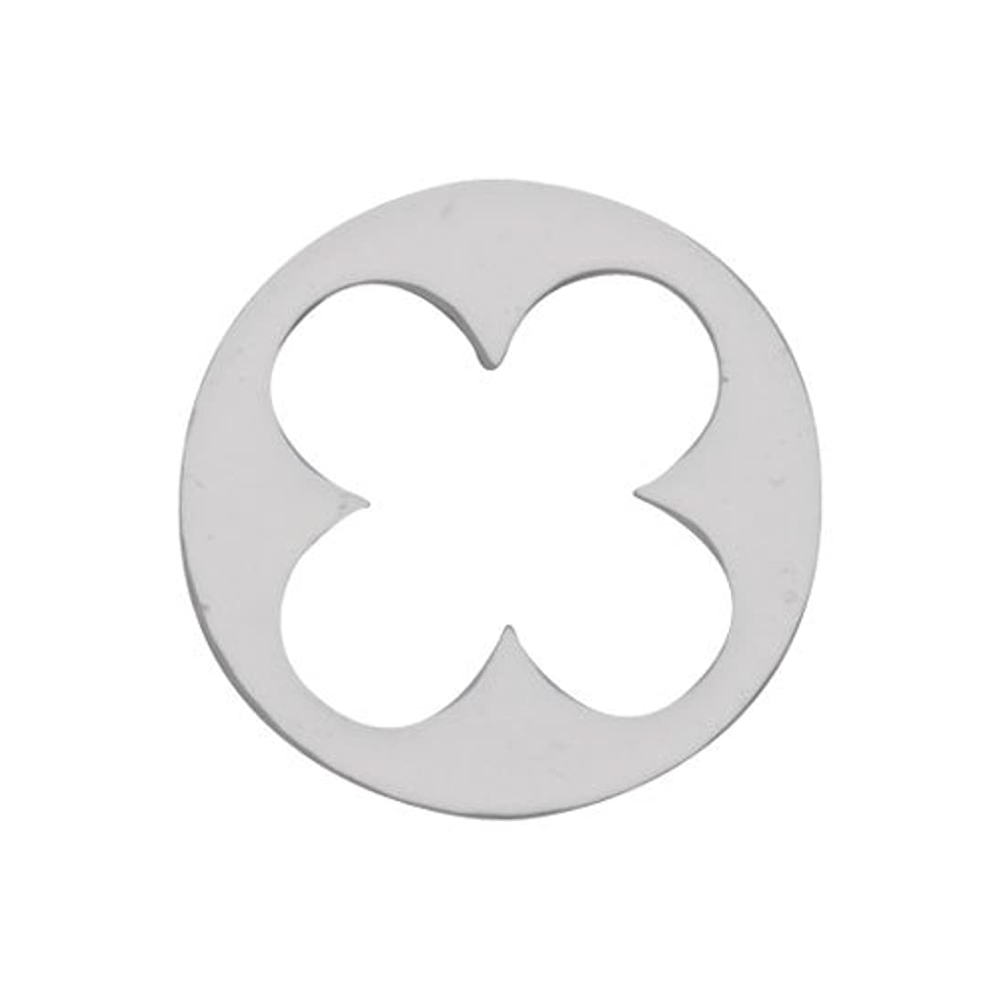 入植者シート過去リトルプリティー ネイルアートパーツ 丸花スカシ シルバー 10個