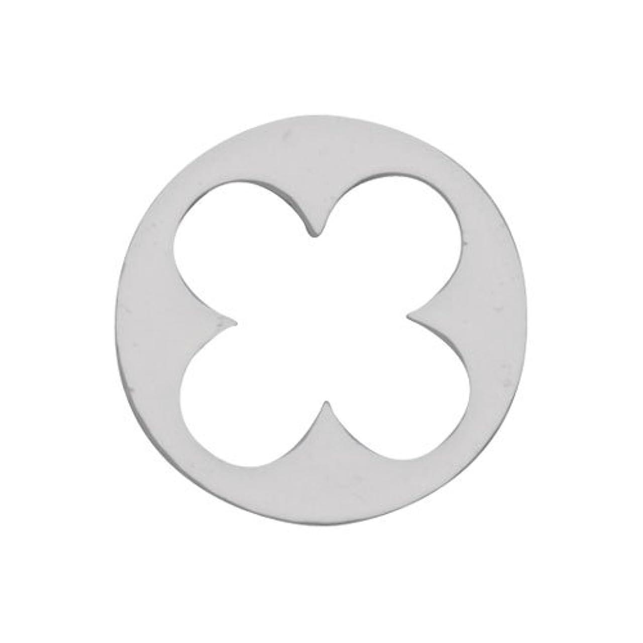 栄養期待浸すリトルプリティー ネイルアートパーツ 丸花スカシ シルバー 10個