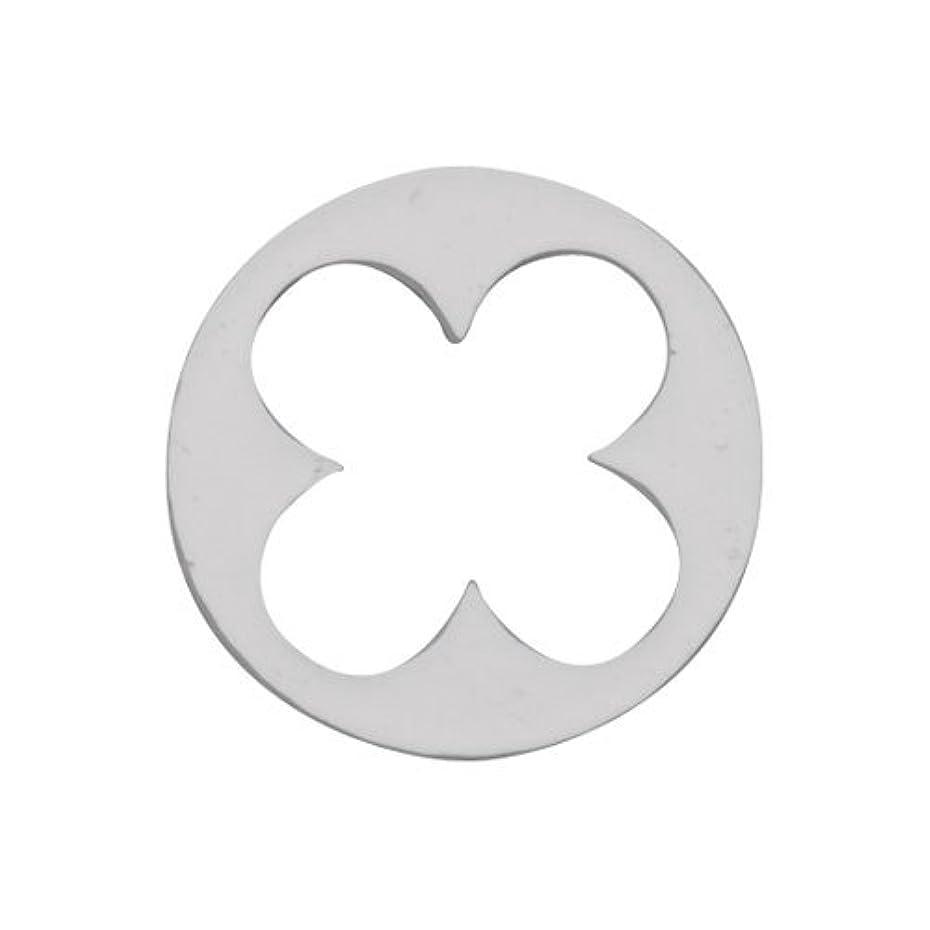 バイオレット基準感情リトルプリティー ネイルアートパーツ 丸花スカシ シルバー 10個