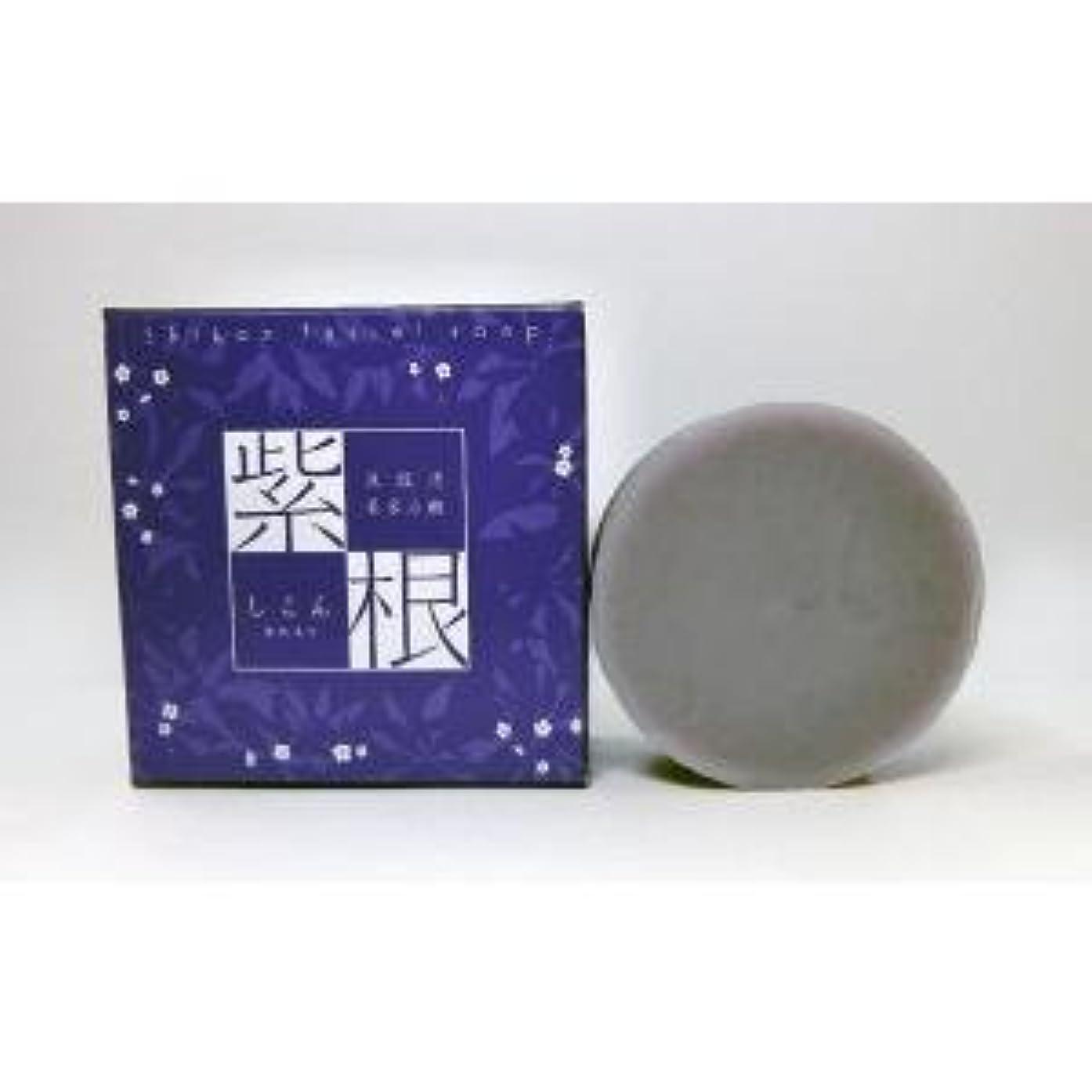 連続したレース精査紫根石鹸 100g×5個セット