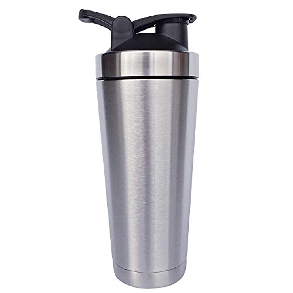候補者申込み著名なシェーカーボトル-二重壁ステンレス鋼 & 真空断熱-時間のためのホットまたはコールドドリンクをキープ-臭気耐性抗菌汗プルーフ-環境にやさしい無毒 (銀),720ml