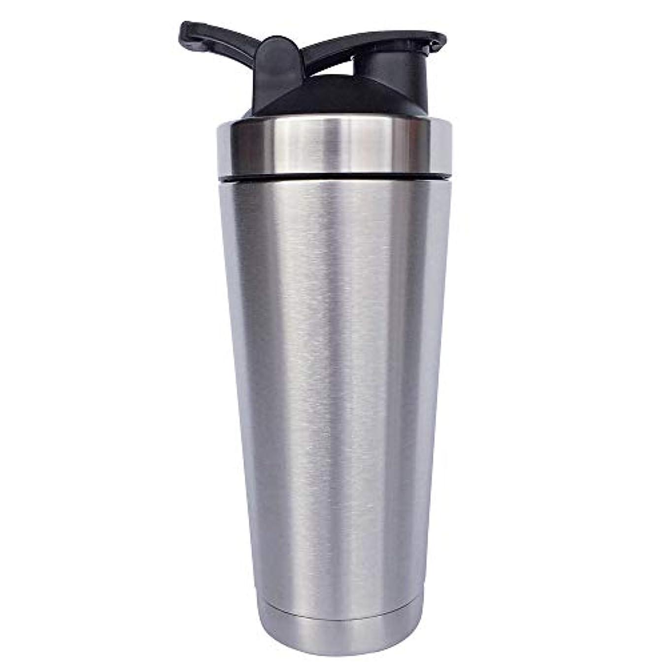 鹿強化する休眠シェーカーボトル-二重壁ステンレス鋼 & 真空断熱-時間のためのホットまたはコールドドリンクをキープ-臭気耐性抗菌汗プルーフ-環境にやさしい無毒 (銀),720ml