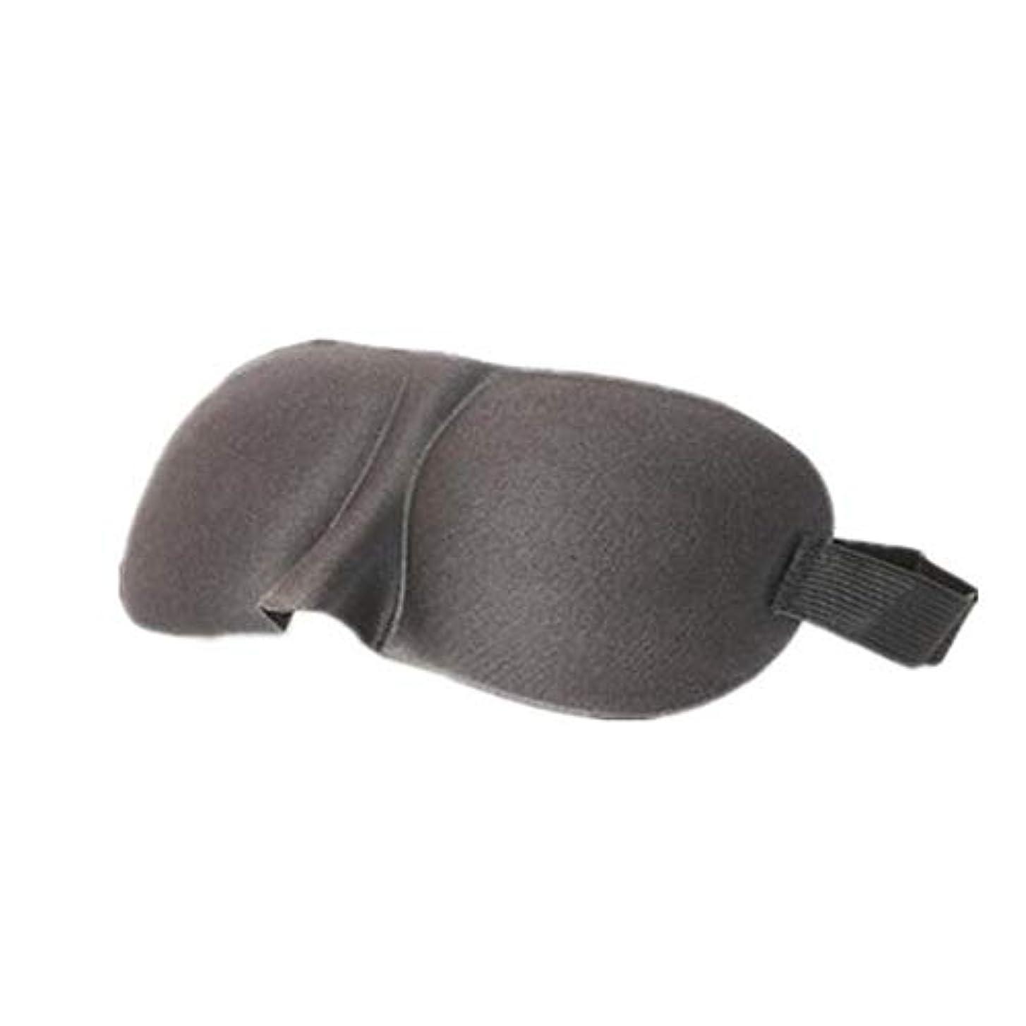 ソブリケット狂乱構造的HUICHEN 3D立体ゴーグルアイシェードソフトで快適な、軽量、通気性の目のゴーグルは昼寝睡眠睡眠の男性と女性を旅行します (Color : Black)