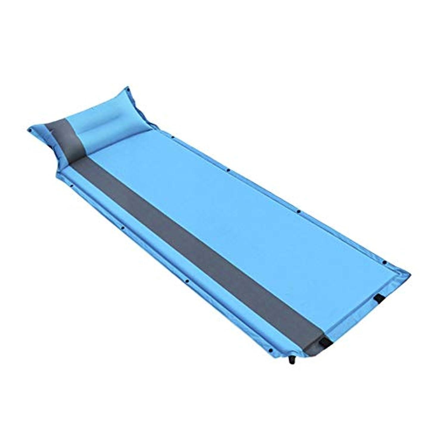 近似不安定ピーブシングル自動インフレータブルクッション屋外テントスリーピングパッドインフレータブルベッドマット厚いランチブレイクシエスタマット、187×57センチ