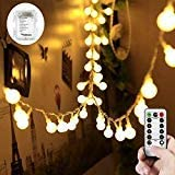 WERTIOO 33ft 100 LEDs Battery Operated String Lights Globe Fairy Lights with Remote Control for Outdoor/Indoor Bedroom,Garden