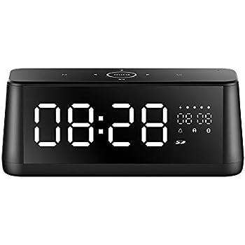 65f5f6f0e7 MIFA A30 Bluetooth スピーカー 置き時計 目覚まし時計 スヌーズモードあり ワイヤレス 30W タッチパネル TWS 時計  Aux入力 Micro SDカード