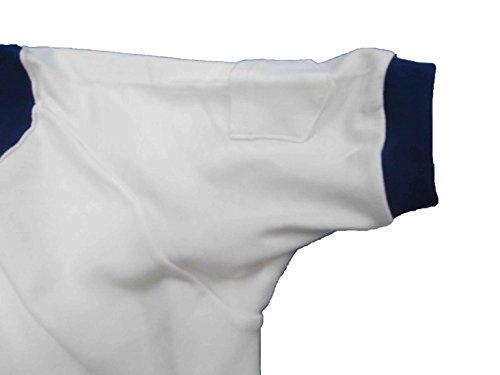 (ファッショナー) 小学生から大人まで 体操着 バレーシャツ(半袖)首と袖は濃紺 サイズ (M)
