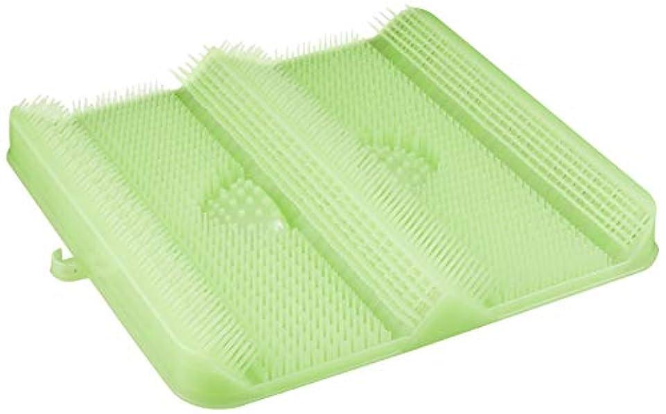 曲がったながら経験的ごしごし洗える!足洗いマット お風呂でスッキリ 足裏洗ったことありますか? HB-2815?グリーン