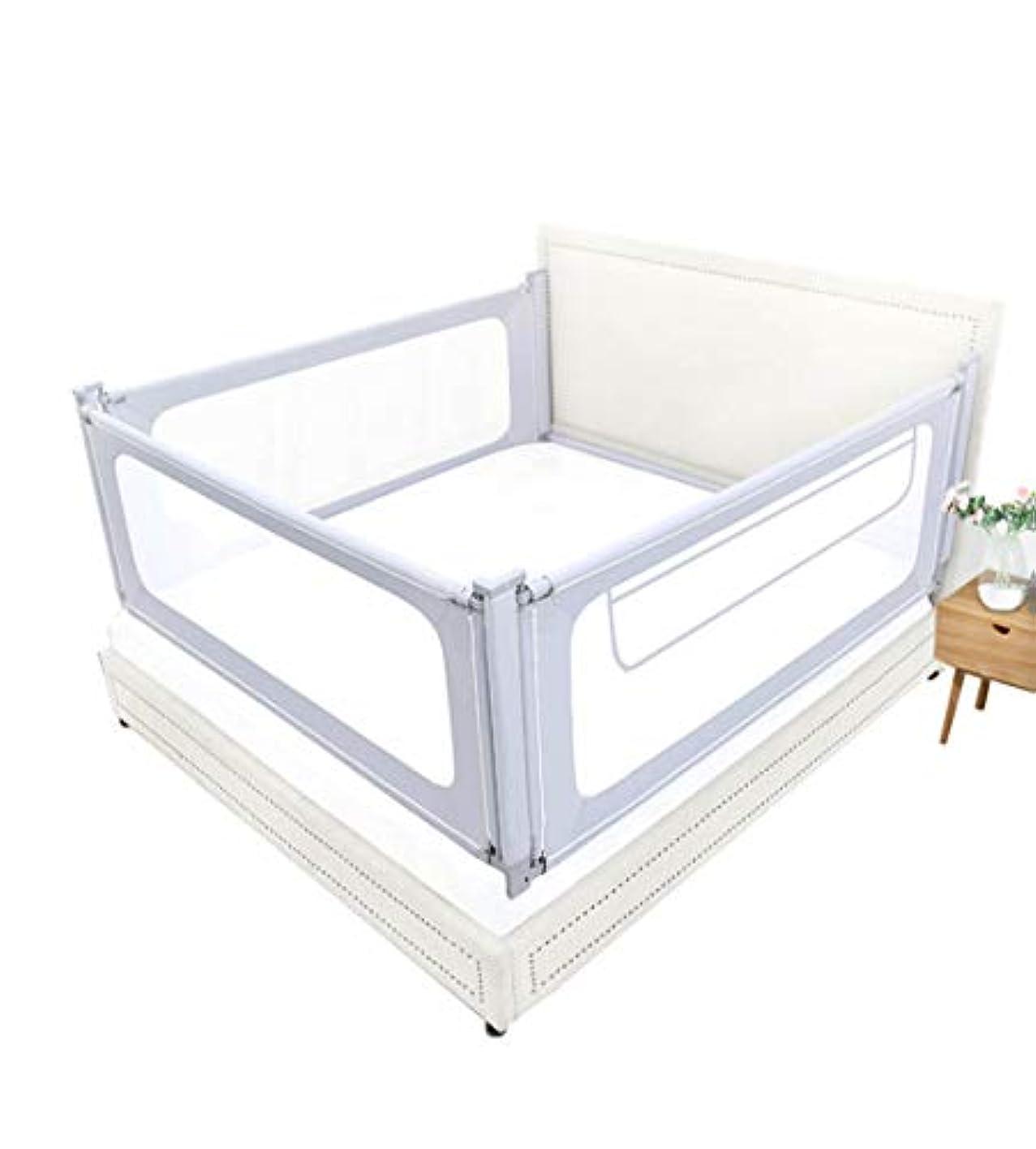 影に関して署名CHANG-dq ベビー保護フェンス、大きなベッド3面汎用目的の垂直リフトフェンス通気性のループベッドバッフル、1.5~2M 家庭用テント (Color : Gray, Size : 180*200CM)
