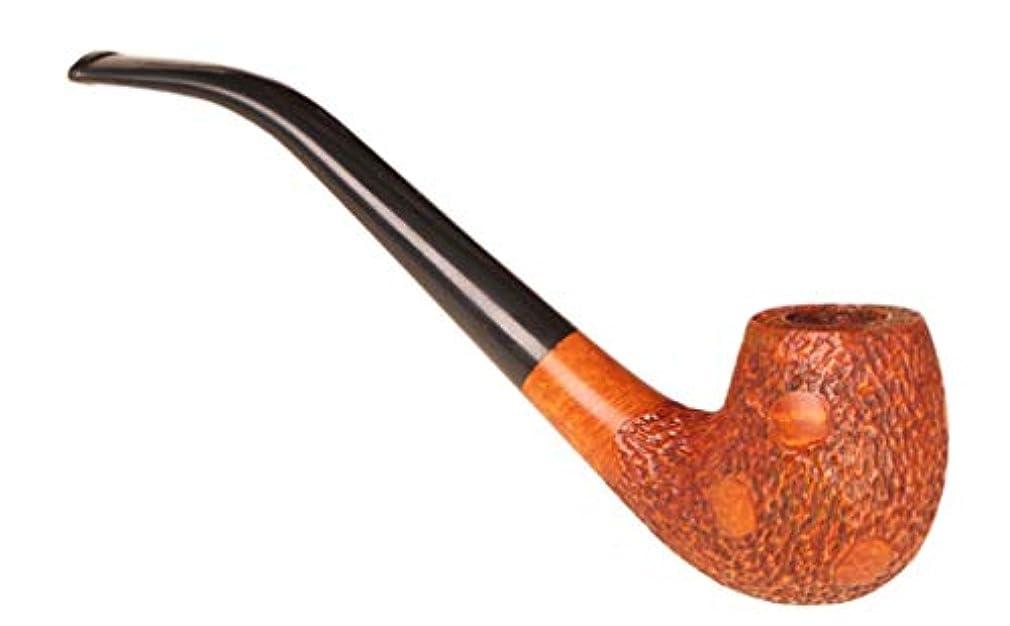 プラスどうやってジャズ古典的な湾曲したタバコのパイプ、取り外し可能なフィルターパイプ、手作りの無垢材男性用喫煙セット
