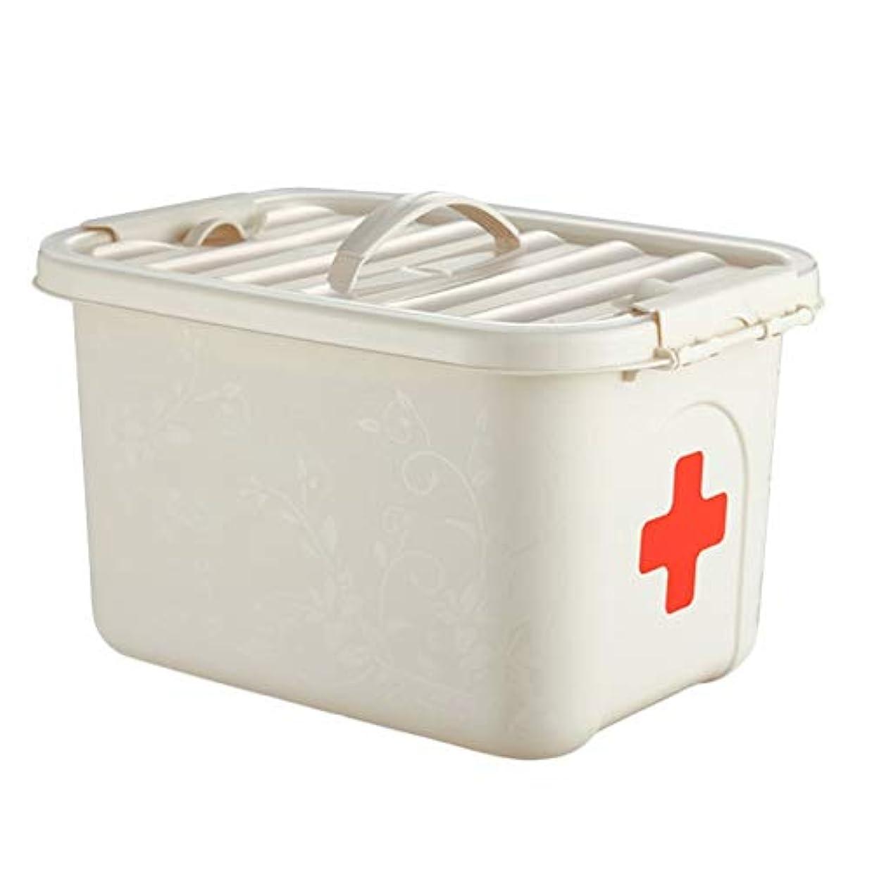 代わりにを立てる必要ない攻撃的KTYXDE ピルボックス薬収納ボックスPP家庭用薬箱28x20.5x16.5cm 薬収納ボックス (Color : White, Size : With compartments)