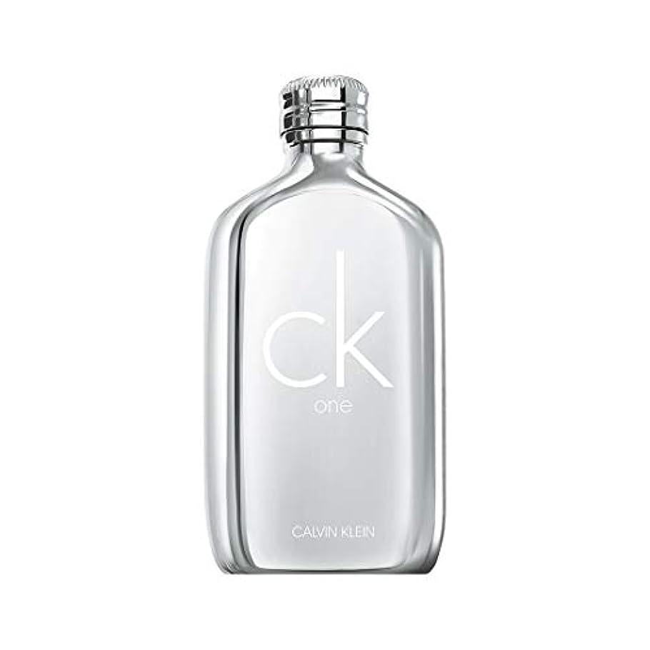 変装した提供水素Calvin Klein(カルバンクライン) カルバンクライン シーケーワン プラチナ EDT SP 100ml(並行輸入品)